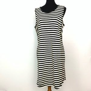 Athleta Striped Midi Dress Size XL